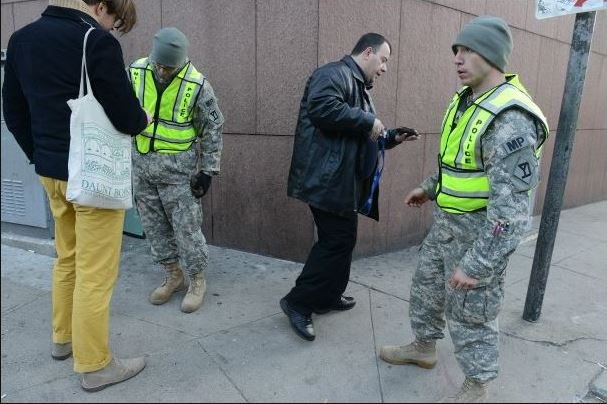 Apr 16 2013_Military police check IDs on Massachusetts Ave in Boston