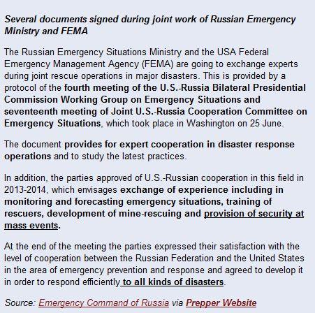 FEMA and Russians