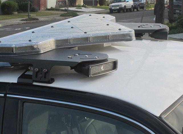 police car license plate grabber
