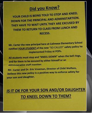 Students must kneel in school