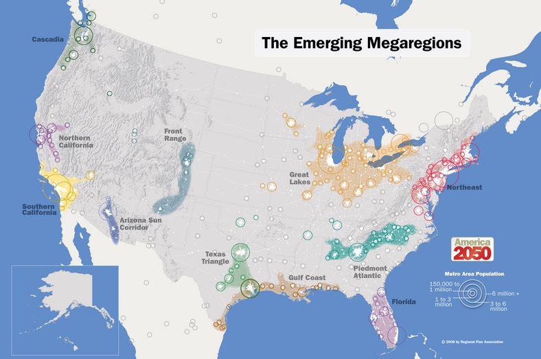 The Emerging Megaregions