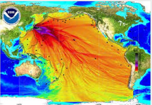 Fukushima radiation spreads