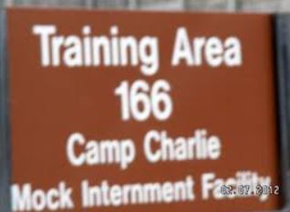 sign for mock internment camp