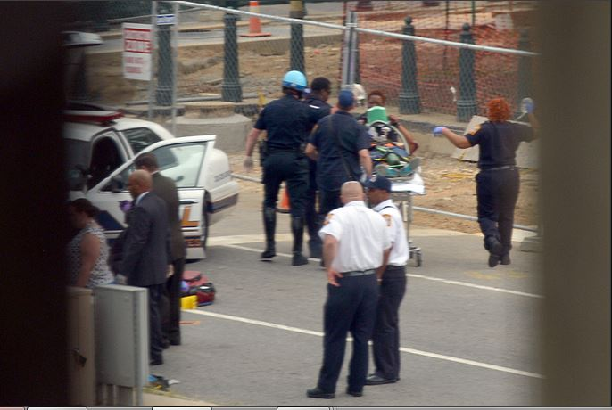 DC police removing shooting victim 3