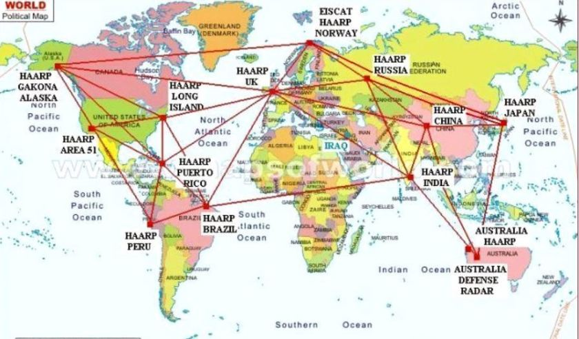 HAARP facilities worldwide
