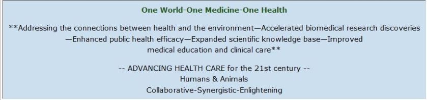 one world one medicine