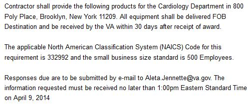 VA hospital requests ammo 3