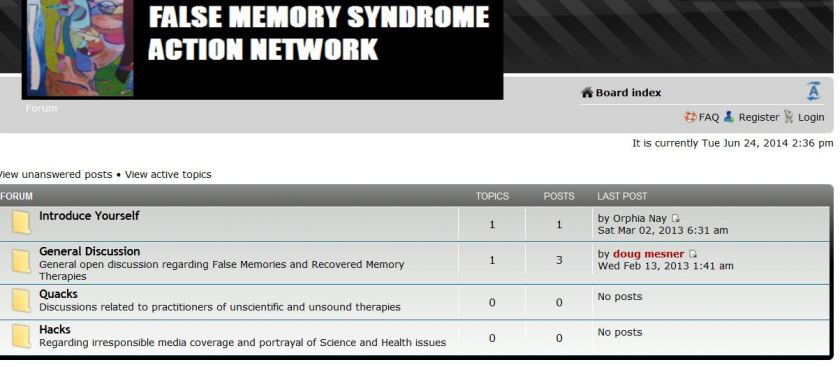 Greaves_Mesner false memory syndrome action network