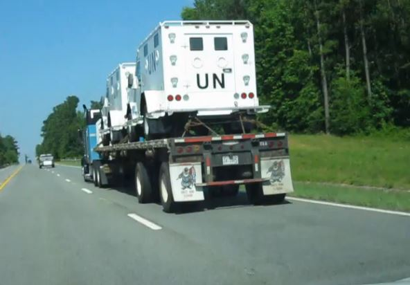 UN vehicles shipped through Alabama
