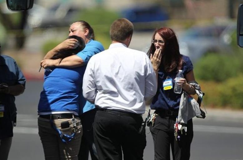 walmart workers hug