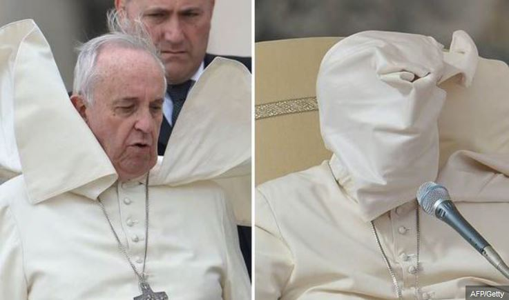 wind gust covers pope face_omen