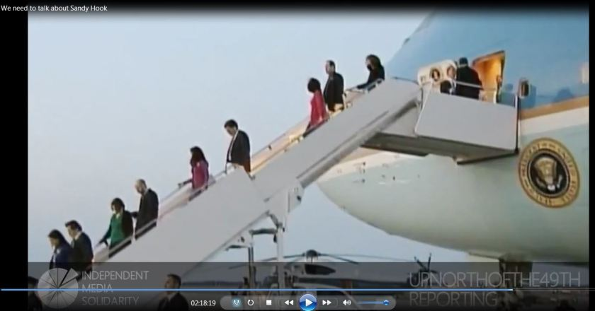 families coming off air force one