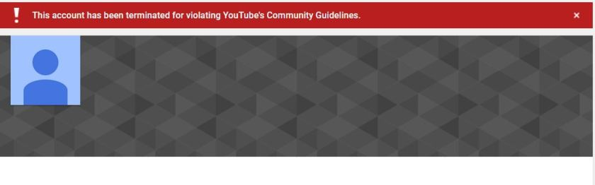 YouTube channel for photoshop video terminated